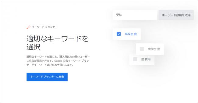 検索ボリューム:Googleキーワードプランナー